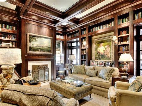 houston  expensive homes  river oaks blvd january  study home library design