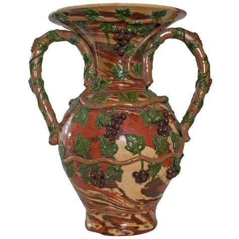 Big Vase Decoration by A Large Quot Uzes Quot Ceramic Vase With Grape Vine Decoration