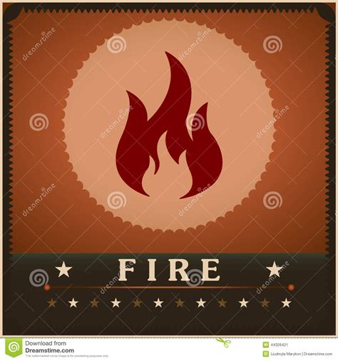creative poster design vector fire flame vector poster creative design template stock