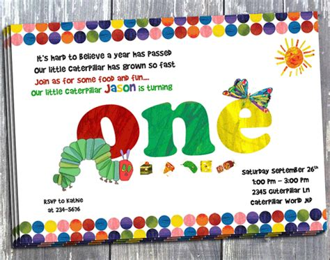 hungry caterpillar invitation template free hungry caterpillar birthday invitation printed