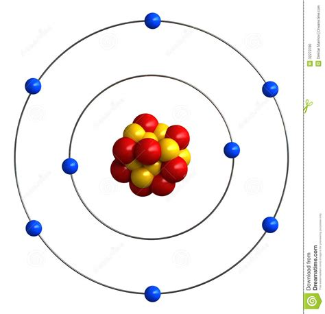 diagram for oxygen atomic structure of oxygen stock illustration