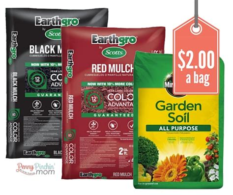 mulch and garden soil just 2 a bag