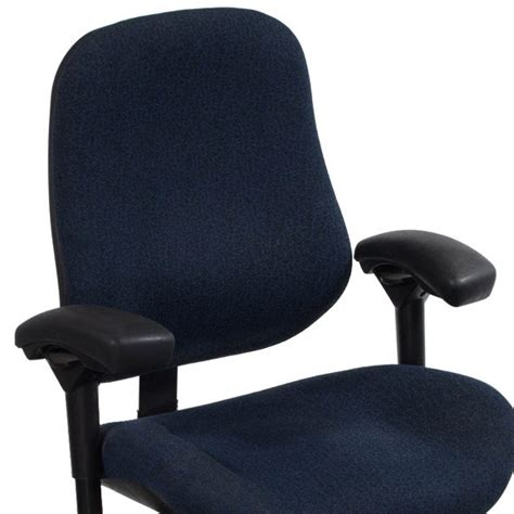 Plus Size Chairs by Bilt J2504 Plus Size Used Task Chair Blue Pattern