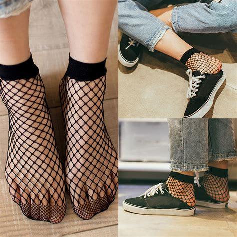 Net Socks 1 fishnet ankle socks mesh lace fish net socks 2017 sell ebay