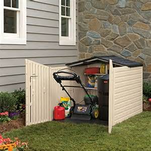 rubbermaid plastic slide lid outdoor storage shed 96