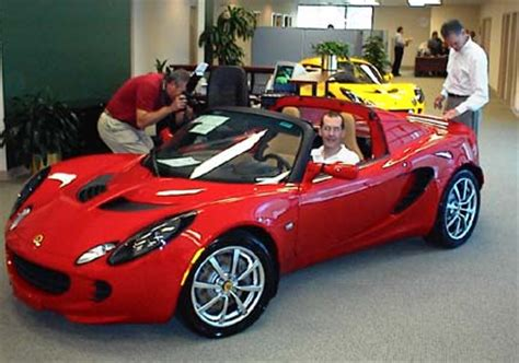 chris in this new elise at lotus cars usa