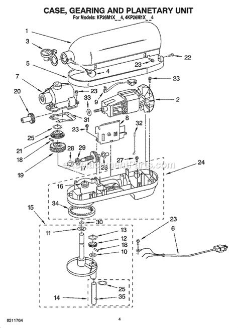 kitchenaid 4kp26m1xmc4 parts list and diagram