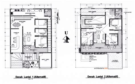 layout ruangan rumah ragam desain rumah tinggal sekaligus rumah kost counter