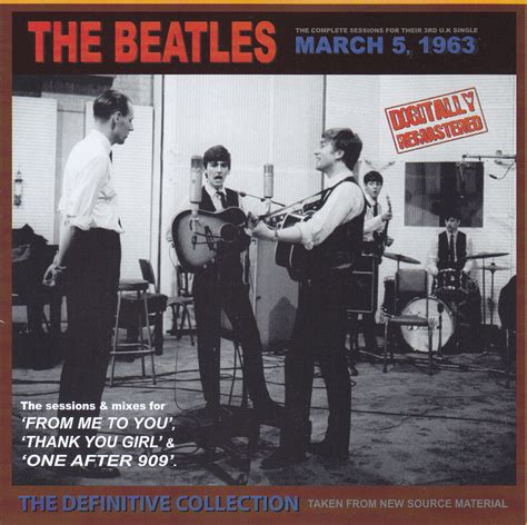 The Beatles 5 beatles march 5 1963 the definitive collection 1cd