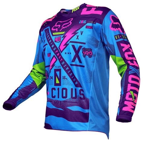 fox motocross jersey fox racing 180 vicious se jersey revzilla