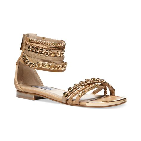 gold sandals steve madden steve madden womens lawful flat sandals in gold multi
