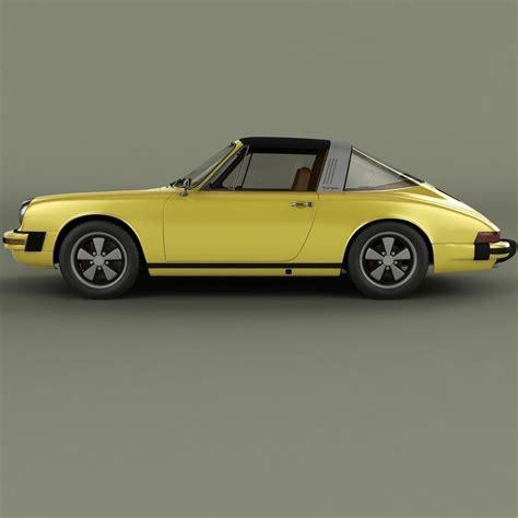1974 porsche 911 targa porsche 911 targa 1974 3d model max obj 3ds cgtrader
