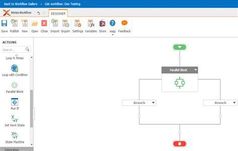 sharepoint workflow parallel block parallel block in nintex workflows through