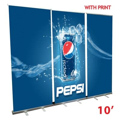 retractable stand up retractable roll up banner stand wall 10