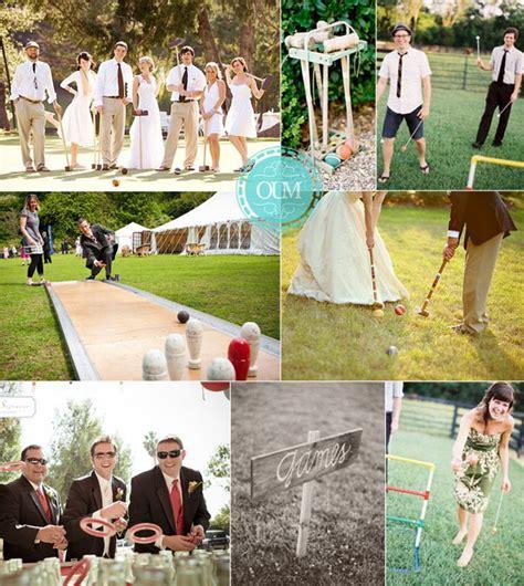 Marriage en plein air avec vin d'honneur reception hall