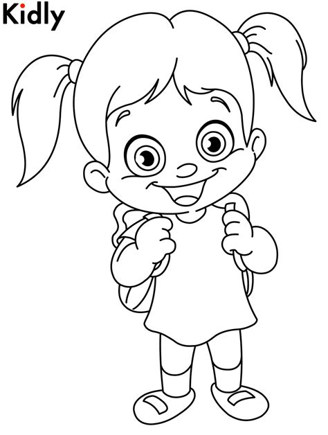 coloring pages of a girl happy girl coloring pages download and print for free