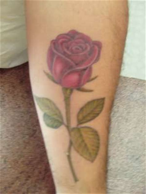 long stem rose tattoos stem designs collection