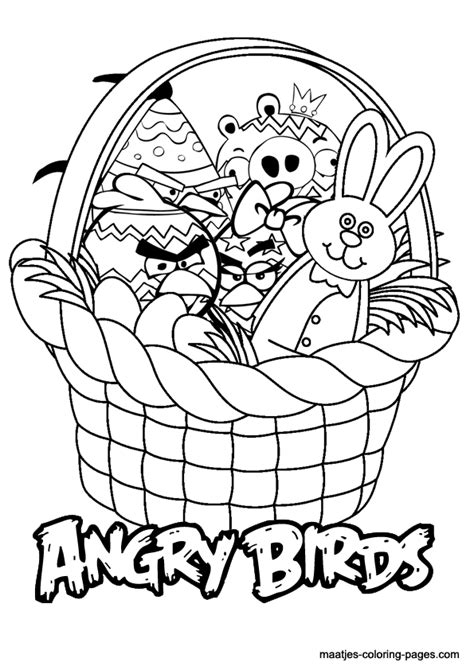 angry birds easter coloring page