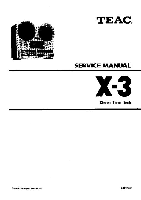 TEAC X3 SM Service Manual download, schematics, eeprom