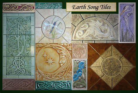 Handmade Ceramic Tile Artists - decorative handmade ceramic tile