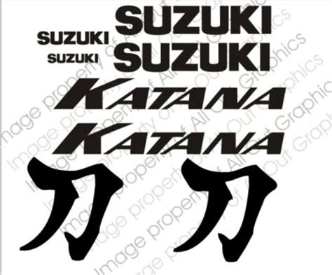 Suzuki Katana Logo Suzuki Katana Decals Motorcycle Graphics