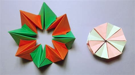 Circle Origami Paper - how to make easy origami magic circle paper fireworks