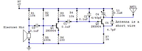 working of two transistor fm transmitter november 2014 electronic projects ic based circuit schematics explation for engineering