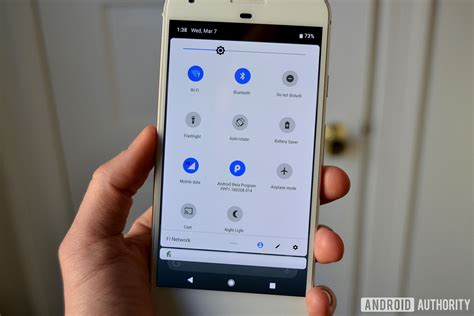 mobile p android p s settings menu interface gets a new design