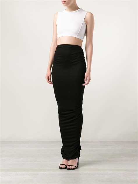 givenchy fitted maxi skirt in black lyst