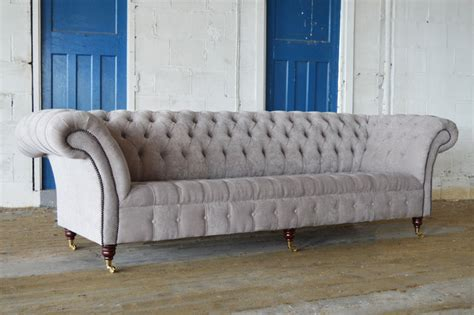 sofa manchester uk handmade bespoke 4 seater mushroom velvet chesterfield