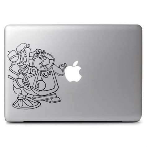 Decalandsticker Vinyl Macbook Hitam and the beast lumiere and gaston for macbook laptop