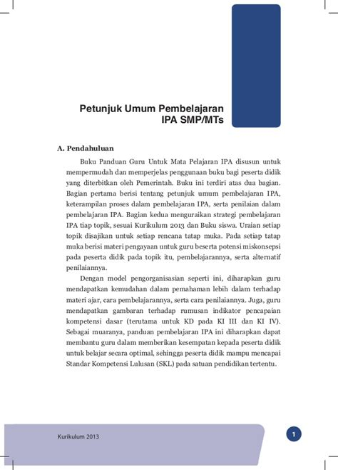 Buku Pendekatan Ilmiah Dalam Implementasi Kurikulum 2013 Abdul M Pr kurikulum 2013 buku guru 7 ipa