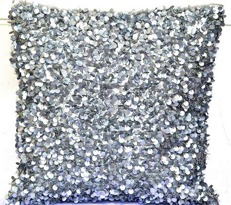 Sequin Decorative Pillows by Sequin Throw Pillow Silver Throw Pillow Glitter Throw