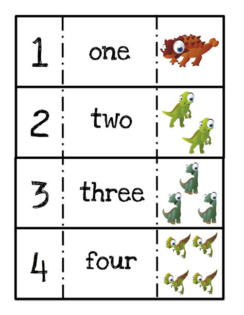 printable dinosaur numbers preschool printables ten terrible dinosaurs printable