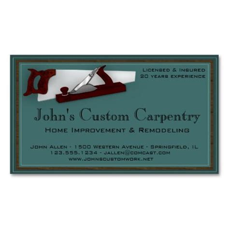 302 best images about carpenter business cards on