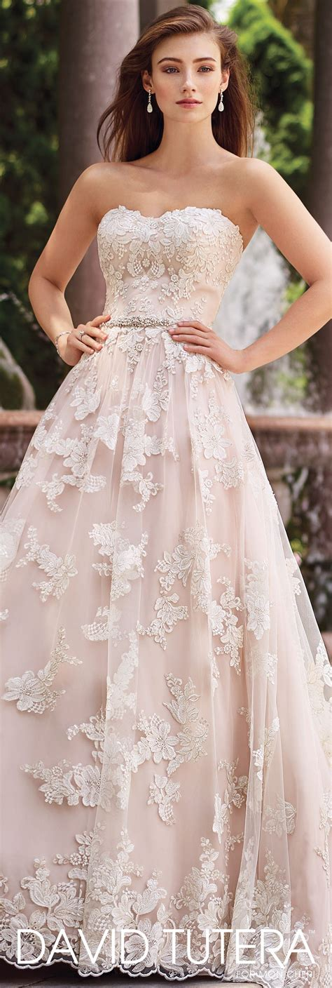 Pink Wedding Dresses by Beaded Lace A Line Wedding Dress 117276 Tala