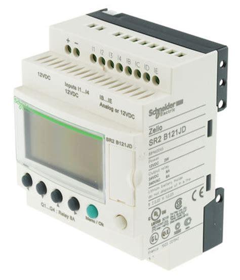 Zelio Logic 12 Io Sr2b121jd 12vdc Original Schneider 1thn Garansi sr2b121jd schneider electric zelio logic 2 logic module with display 8 x input 4 x output