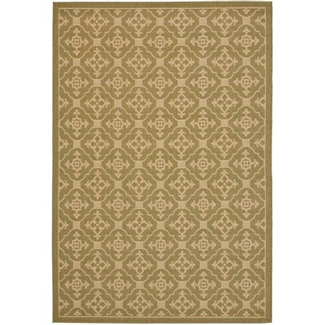 indoor outdoor rugs home depot safavieh veranda green 6 ft 7 in x 9 ft 6 in