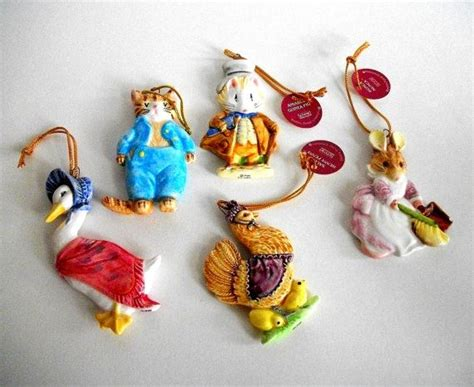 vintage beatrix potter christmas ornaments by