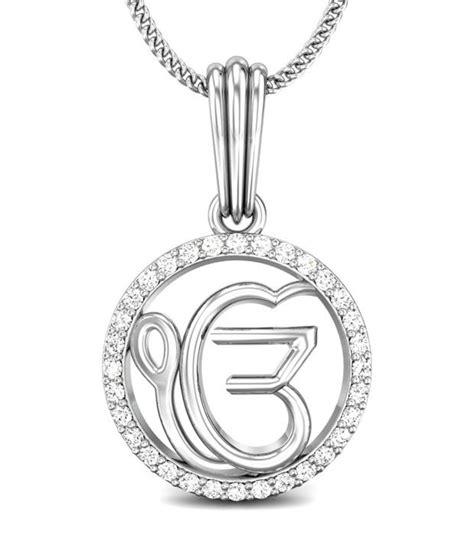 candere ek onkar white gold 14k pendant buy