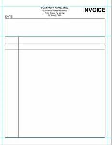 Free Blank Template Free Blank Invoice Templates In Pdf Invoice Form Printable