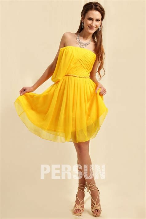 Robe Jaune Temoin Mariage - robe chic jaune courte grande taille pour t 233 moin mariage