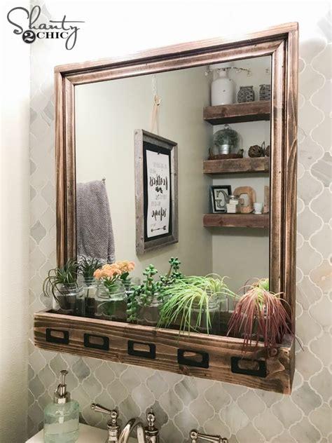 diy farmhouse bathroom vanity shanty 2 chic diy farmhouse storage mirror and youtube video tutorial