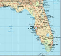 florida map showing cities and towns maps of florida