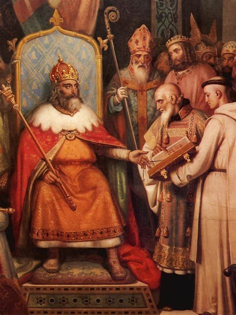 Beautiful History Of The Christian Church Timeline #5: Charlemagne_and_Alcuin_scriptor.jpg