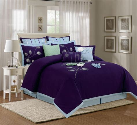 comforter sets king blue 9 piece king salzer blue comforter set