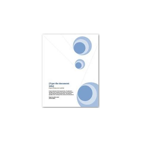 project cover page template word documentation cover page template project report
