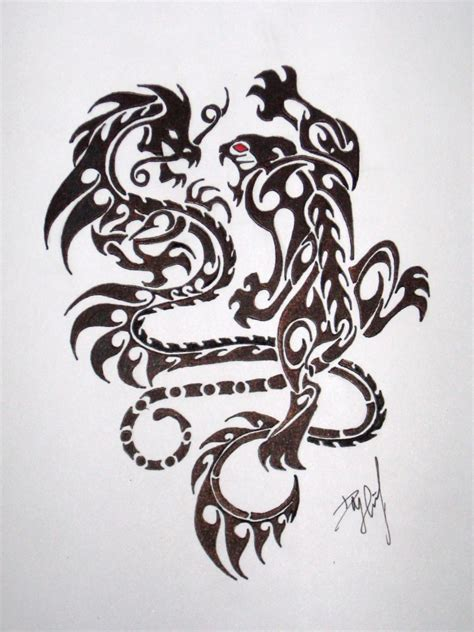 tiger dragon tattoo 45 and tiger tattoos designs with meanings