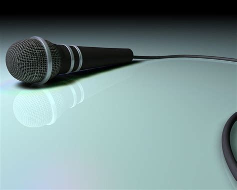 Microphone Powerpoint Template