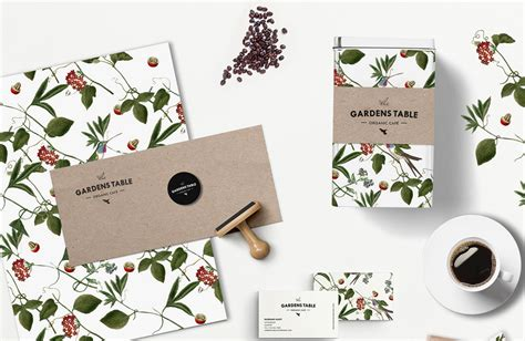 Garden Of Brand The Gardens Table Organic Caf 233 The Dieline Packaging